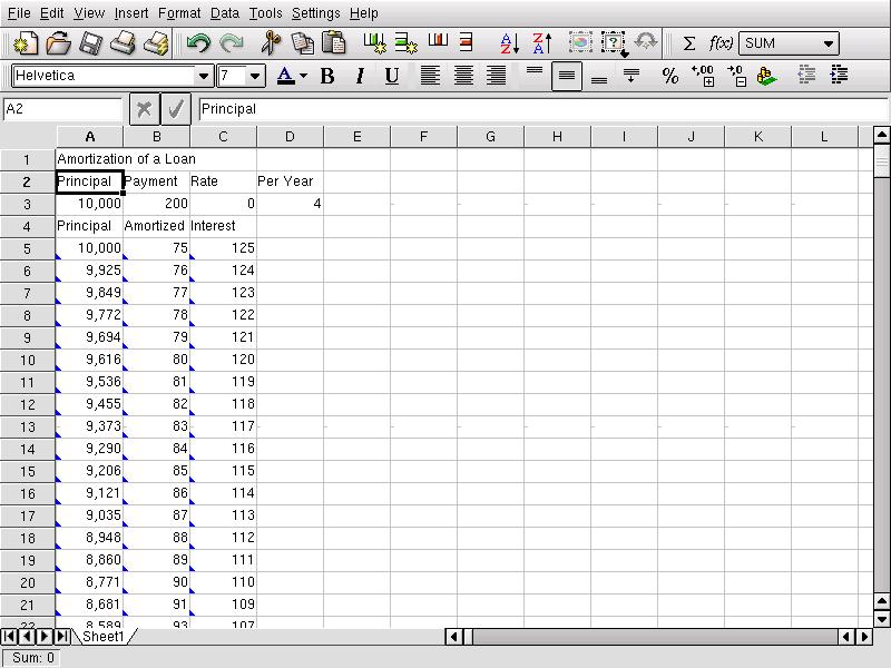 Office Suite Evaluation: Spreadsheet